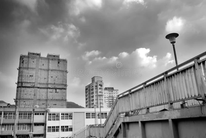Paesaggio urbano - flyover ed appartamento fotografie stock libere da diritti