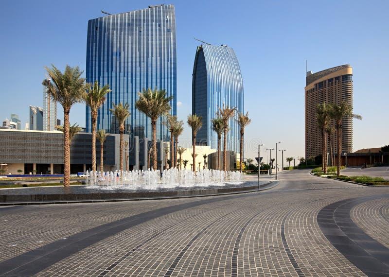 Paesaggio urbano. La Doubai moderna. immagine stock