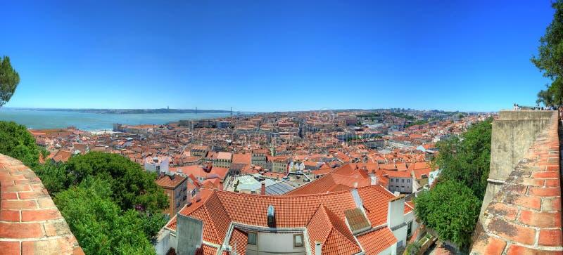 Paesaggio urbano a Lisbona, Portogallo fotografie stock