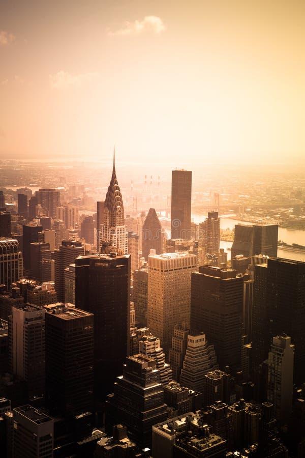 Paesaggio urbano Manhattan di New York immagine stock