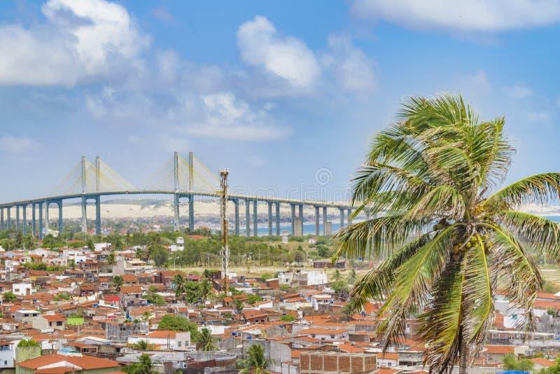 Paesaggio urbano Natal Brazil di vista aerea immagine stock libera da diritti
