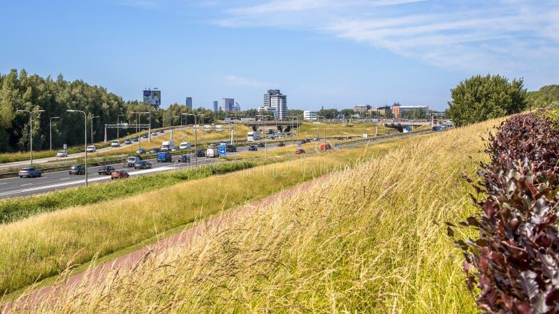 Paesaggio urbano Paesi Bassi dell'autostrada fotografie stock