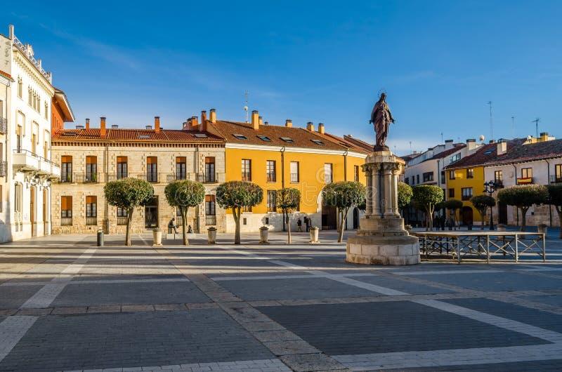 Paesaggio urbano a Palencia, Spagna fotografia stock