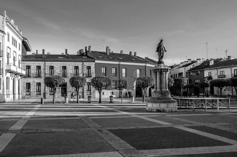 Paesaggio urbano a Palencia, Spagna immagini stock