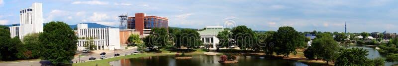 Paesaggio urbano panoramico di Huntsville, Alabama fotografia stock libera da diritti