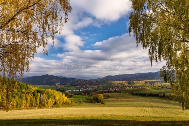Paesaggio urbano in Polonia fotografia stock
