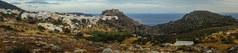 Paesaggio urbano scenico, Cerigo, Grecia fotografia stock libera da diritti