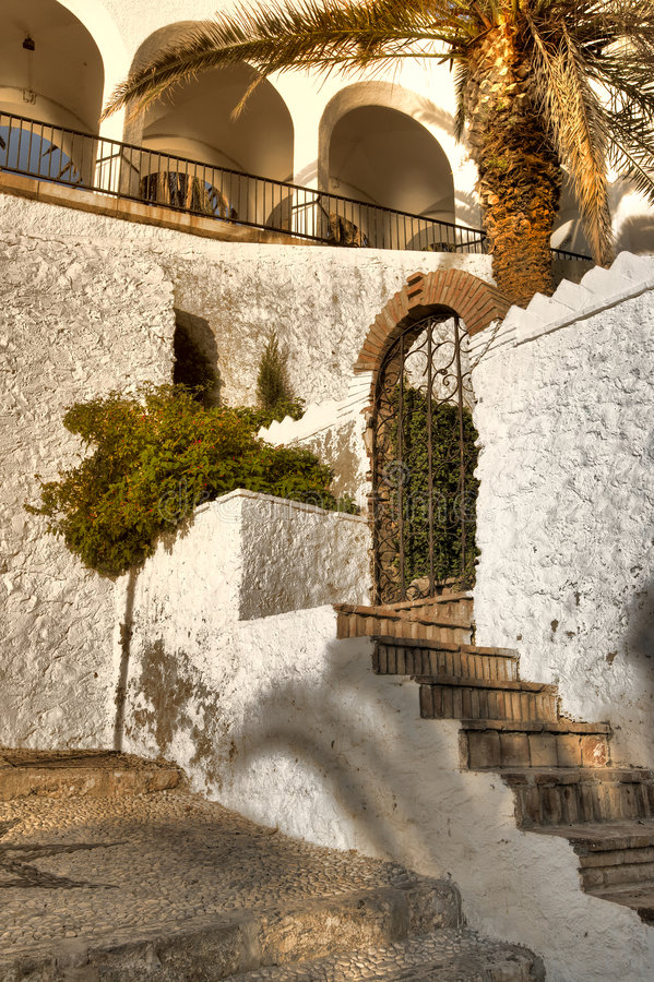 Paesaggio urbano spagnolo fotografie stock libere da diritti