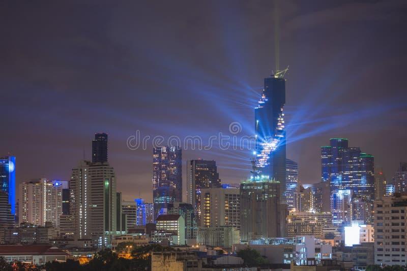 Paesaggio urbano spettacolare di Bangkok fotografie stock