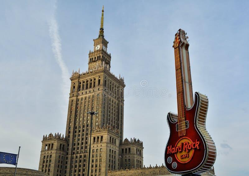 Paesaggio urbano a Varsavia, Polonia fotografia stock libera da diritti