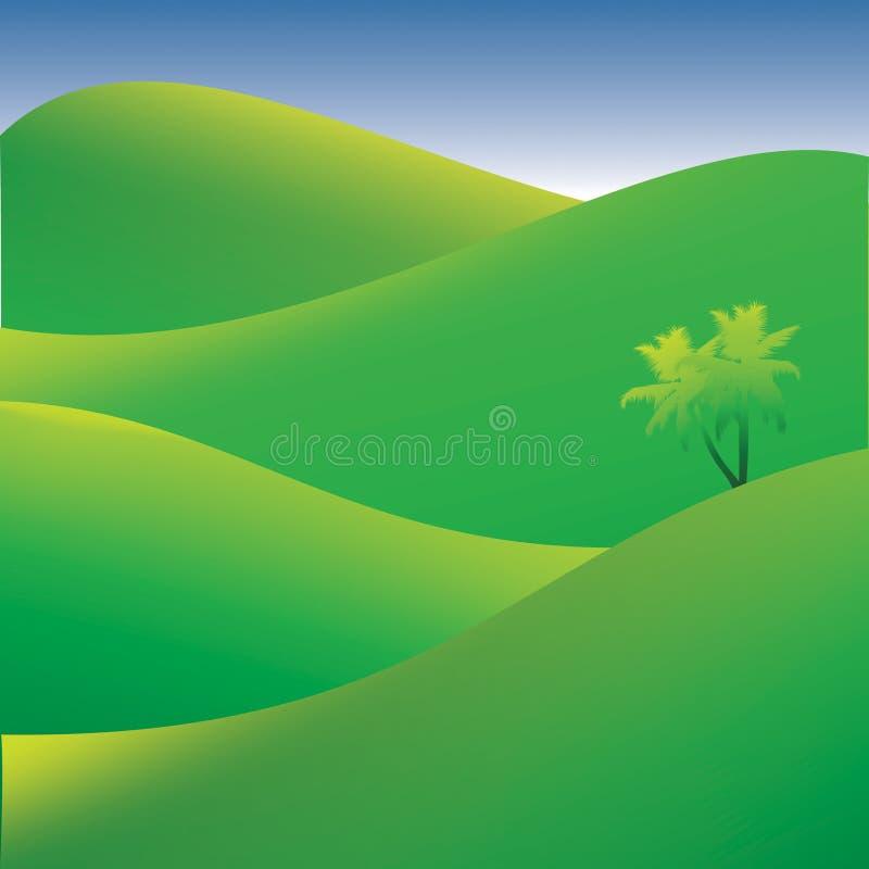 Paesaggio verde di estate illustrazione di stock