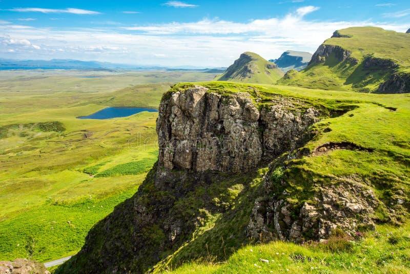 Paesaggio verde sull'isola di Skye fotografie stock libere da diritti