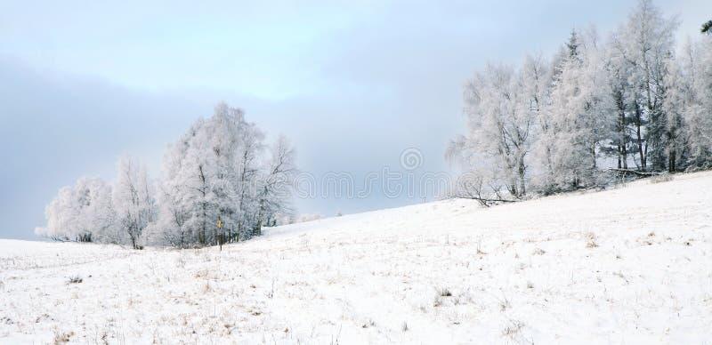 Paesaggio vicino al villaggio di Pasterka in Polonia fotografie stock libere da diritti