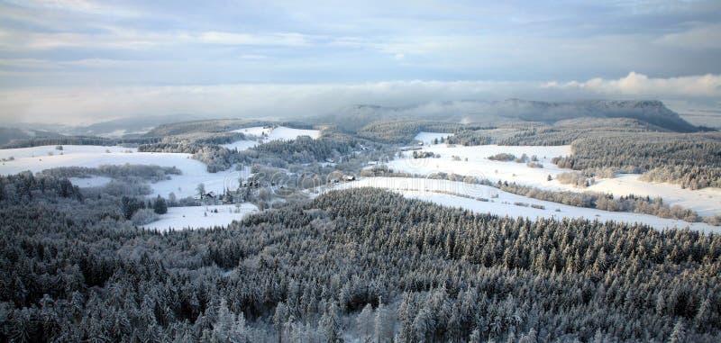 Paesaggio vicino al villaggio di Pasterka in Polonia immagine stock libera da diritti