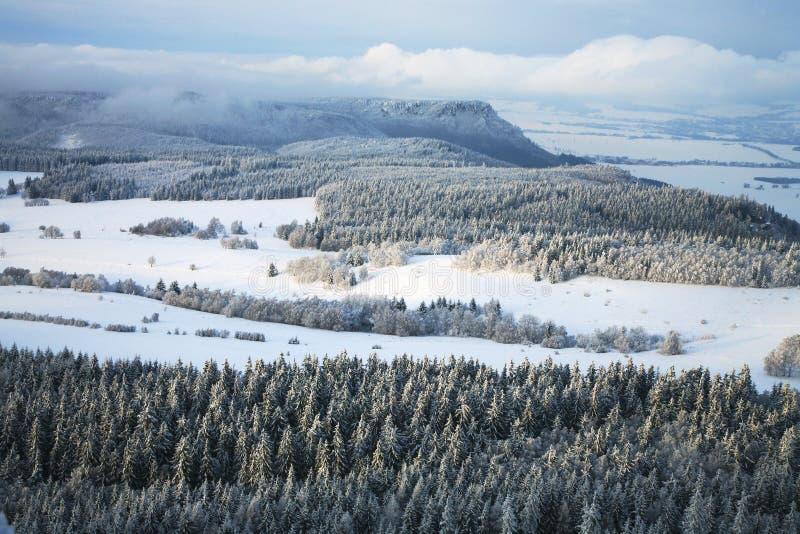 Paesaggio vicino al villaggio di Pasterka in Polonia immagini stock