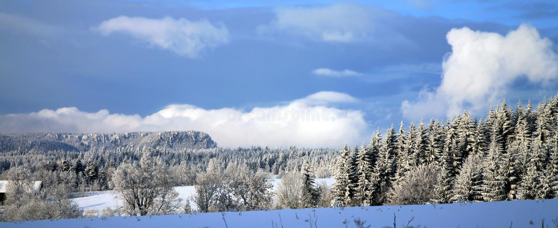 Paesaggio vicino al villaggio di Pasterka in Polonia fotografie stock