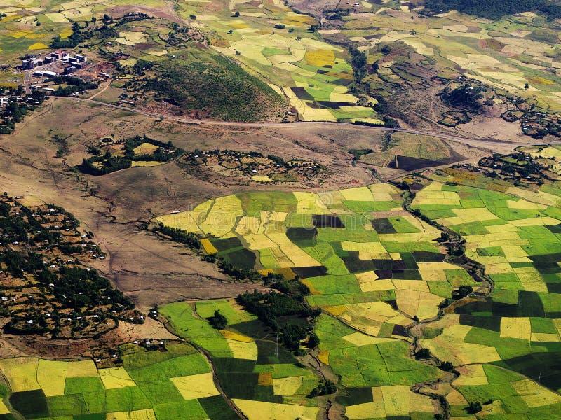 Paesaggio vicino a Gondar, altopiani etiopici fotografie stock libere da diritti
