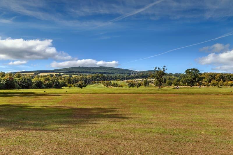 Paesaggio vicino a Powerscourt, Irlanda fotografie stock libere da diritti