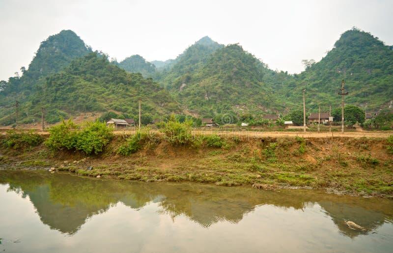 Paesaggio vietnamita del nord. fotografie stock libere da diritti