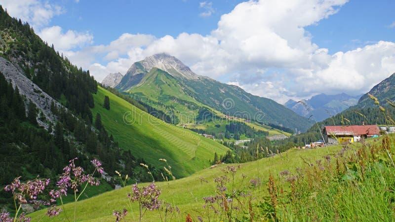 Paesaggio in Vorarlberg, Austria fotografie stock