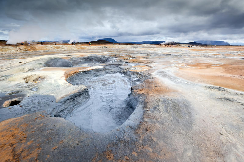 Paesaggio vulcanico all'Islanda fotografia stock