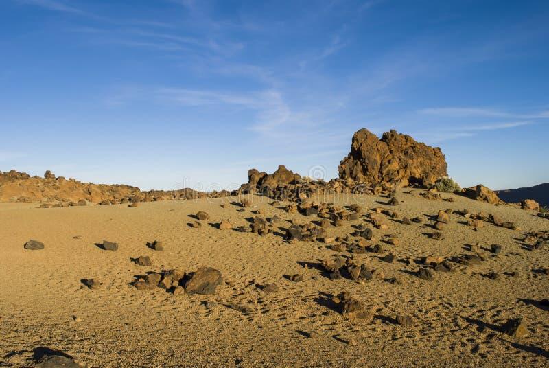 Paesaggio vulcanico (Teide - Tenerife) immagine stock libera da diritti