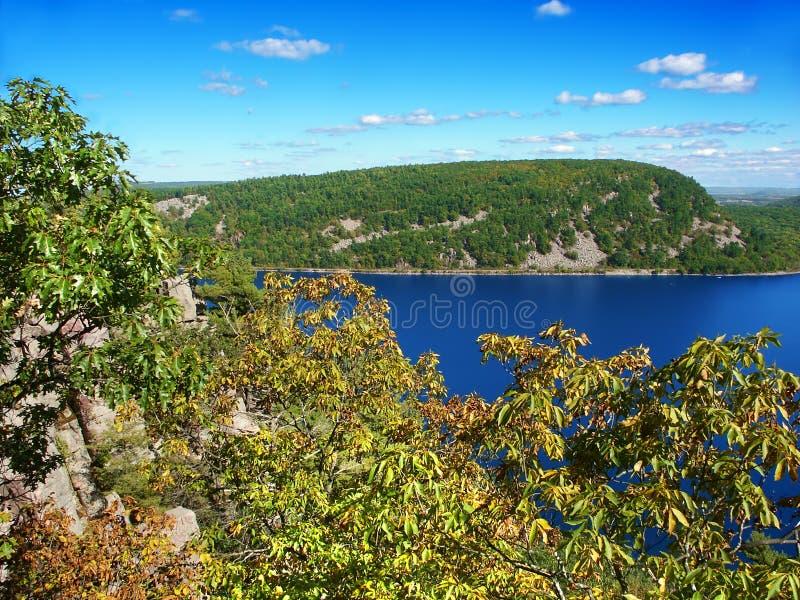 Paesaggio Wisconsin del lago devils fotografie stock