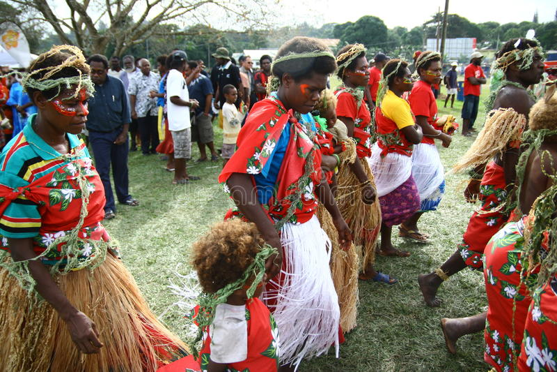 Paesani tribali del Vanuatu fotografie stock