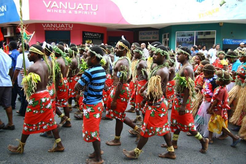 Paesani tribali della Vanuatu immagini stock