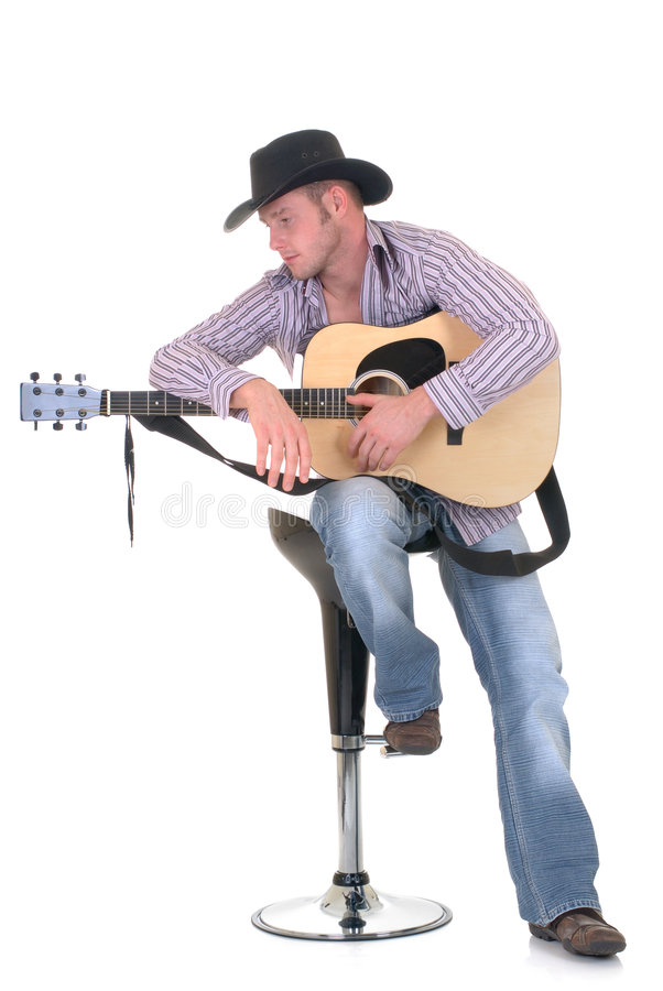Paese & cantante occidentale immagine stock libera da diritti