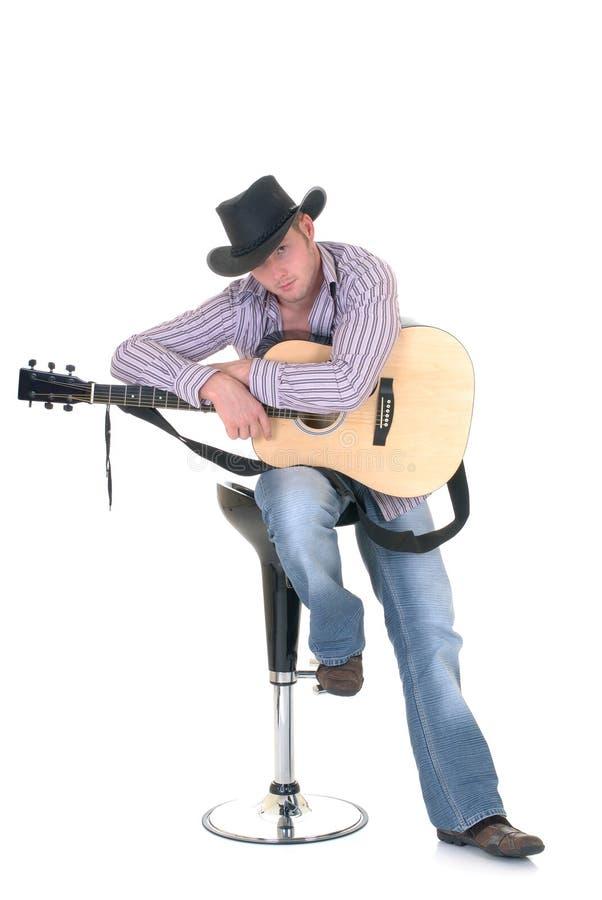 Paese & cantante occidentale immagine stock