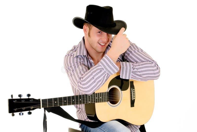 Paese & cantante occidentale immagini stock