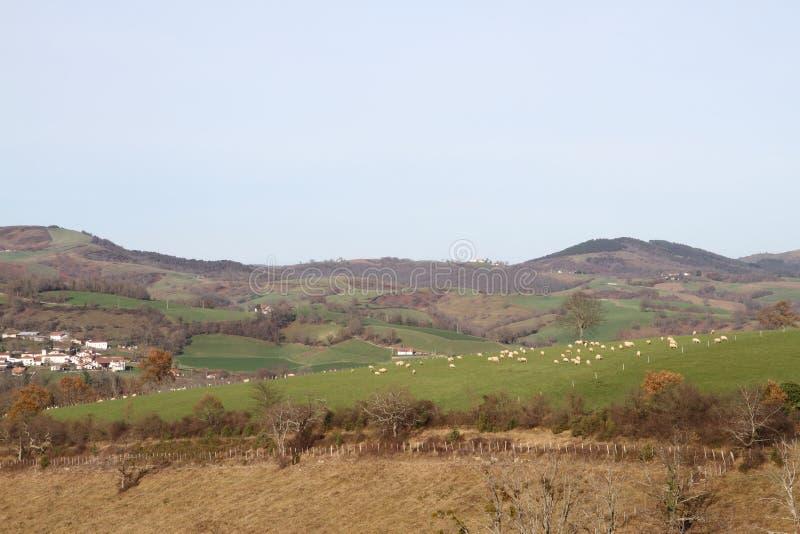 Paese Basco francese nell'inverno immagini stock libere da diritti