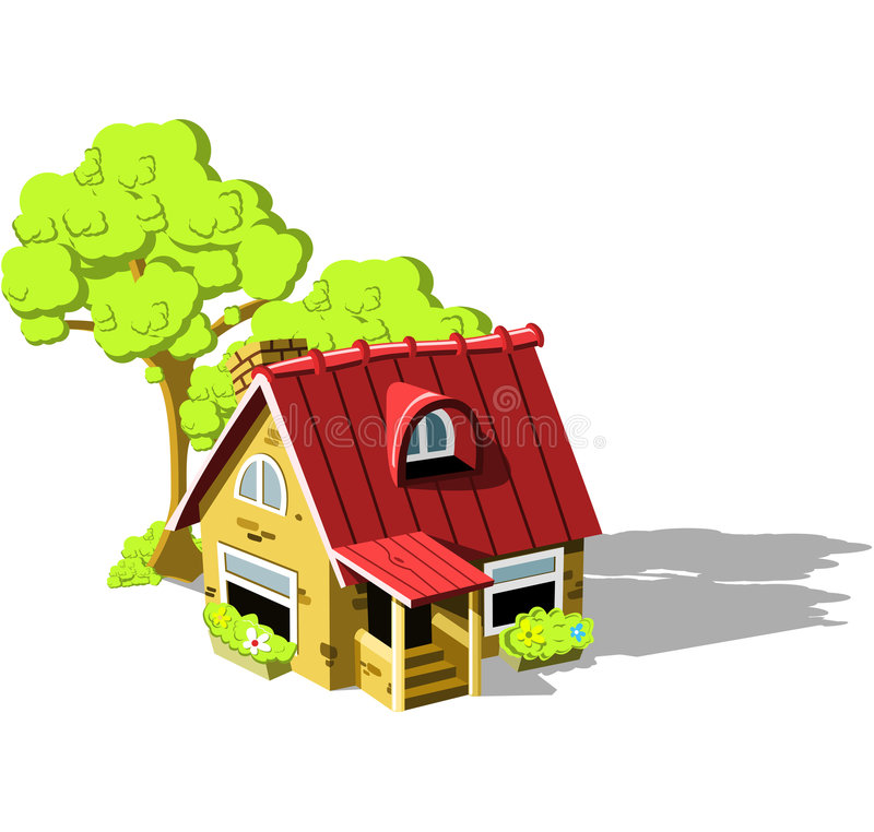 Paese-casa royalty illustrazione gratis