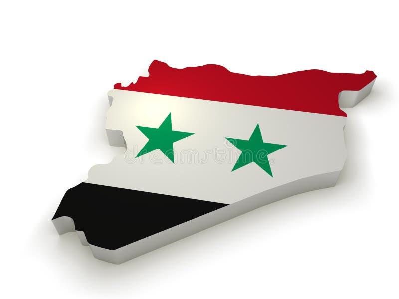 Paese della Siria 3d immagine stock
