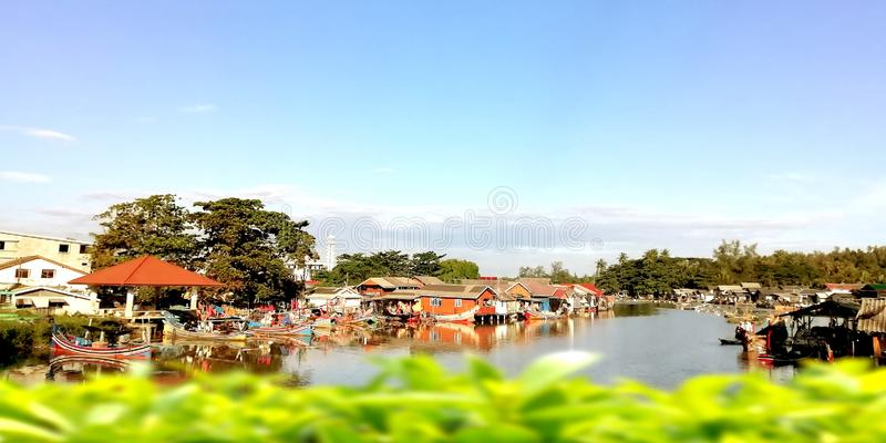 Paesini di pescatori Narathiwat, Tailandia fotografia stock
