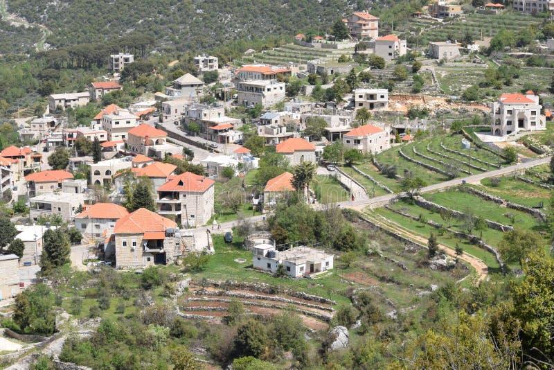 Paesino di montagna Il Libano fotografie stock libere da diritti