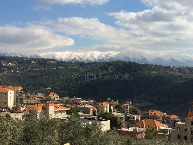 Paesino di montagna Il Libano fotografia stock