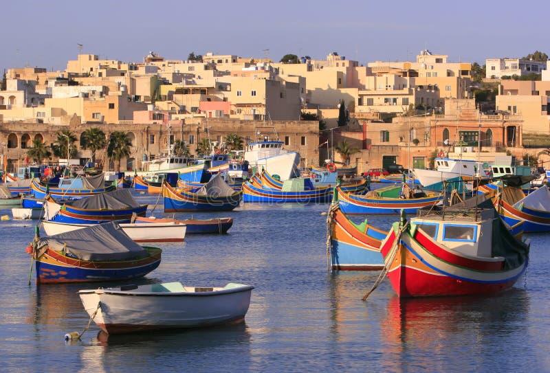 Paesino di pescatori #2 di Marsaxlokk immagini stock