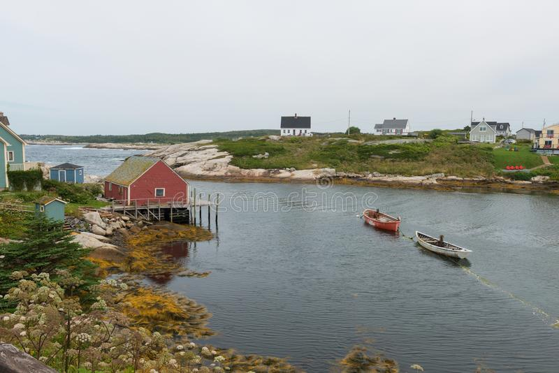 Paesino di pescatori fotografia stock
