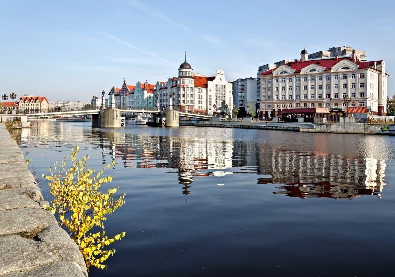 Paesino di pescatori - centro etnografico. Kaliningrad (prima del 1946 Koenigsberg), Russia immagini stock