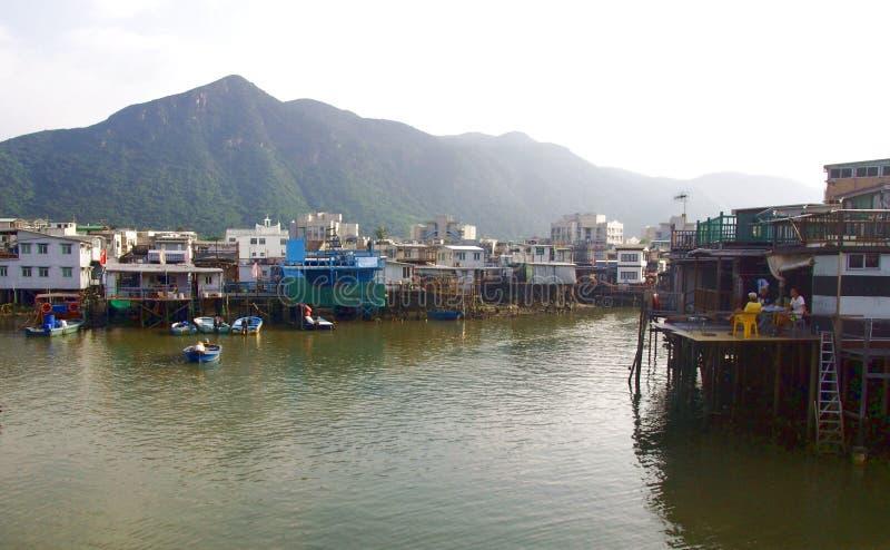 Paesino di pescatori del Tai O fotografie stock libere da diritti