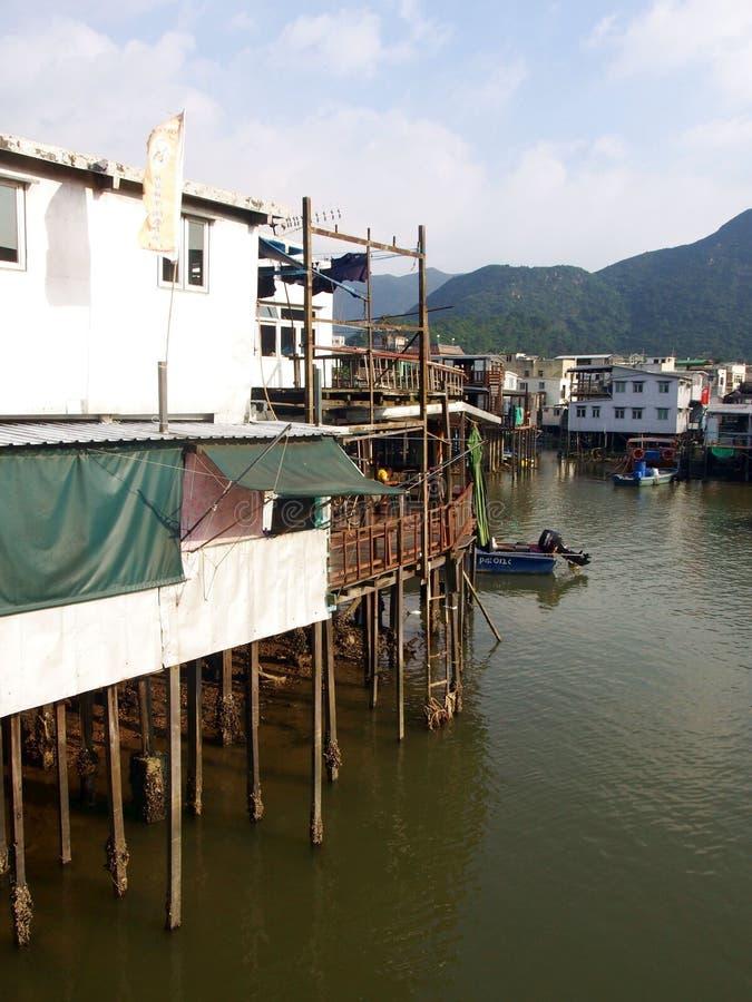 Paesino di pescatori del Tai O immagini stock libere da diritti