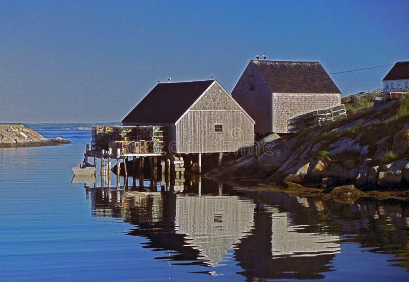 Paesino di pescatori della baia di Peggyâs fotografia stock libera da diritti