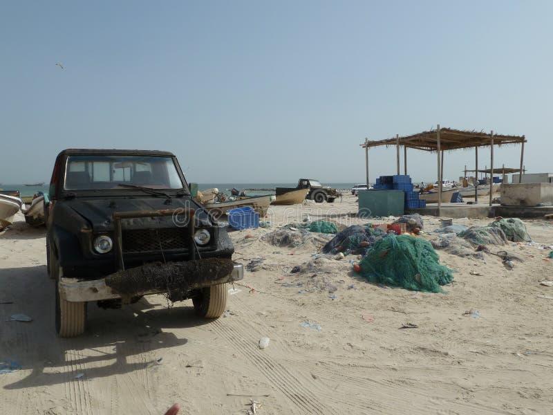 Paesino di pescatori Oman fotografia stock
