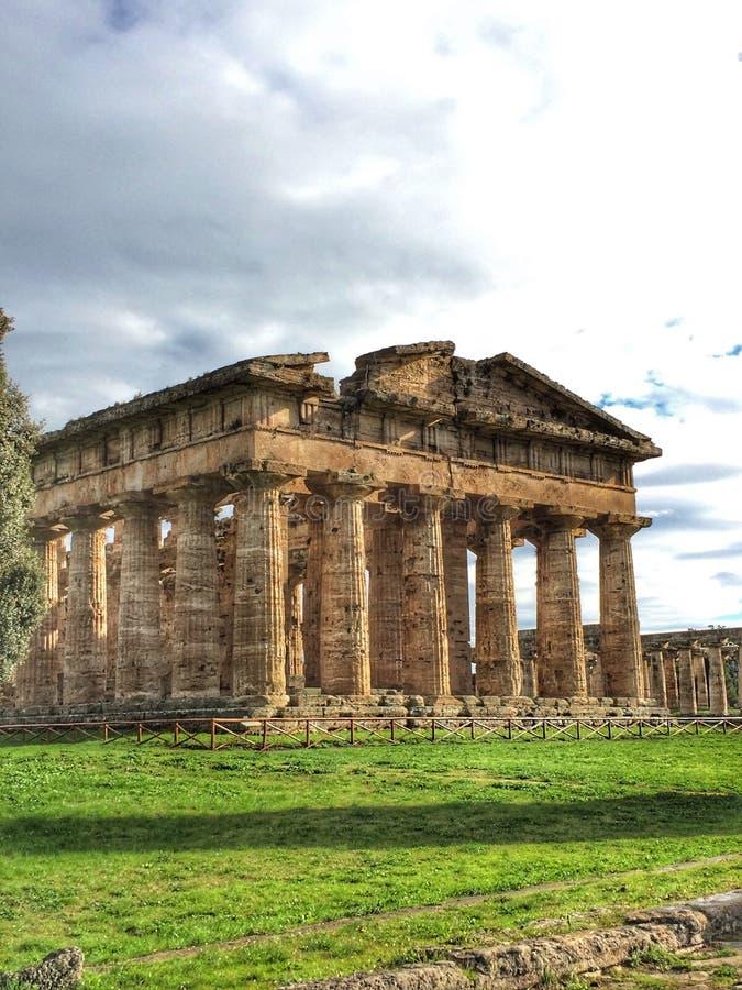 Paestum南意大利 库存图片