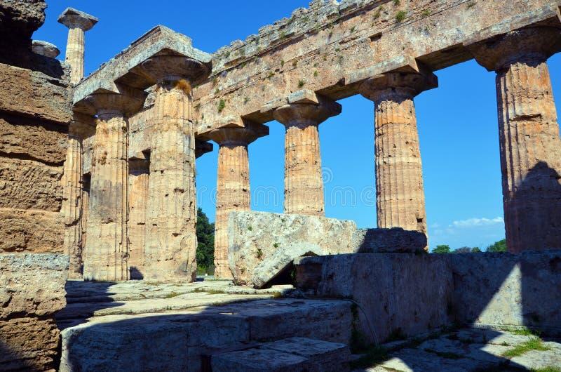 Paestum Италия Capaccio стоковое фото