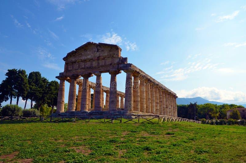 Paestum Италия Capaccio стоковое изображение