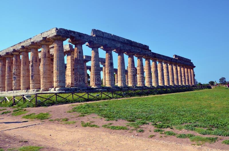 Paestum Италия Capaccio стоковая фотография rf