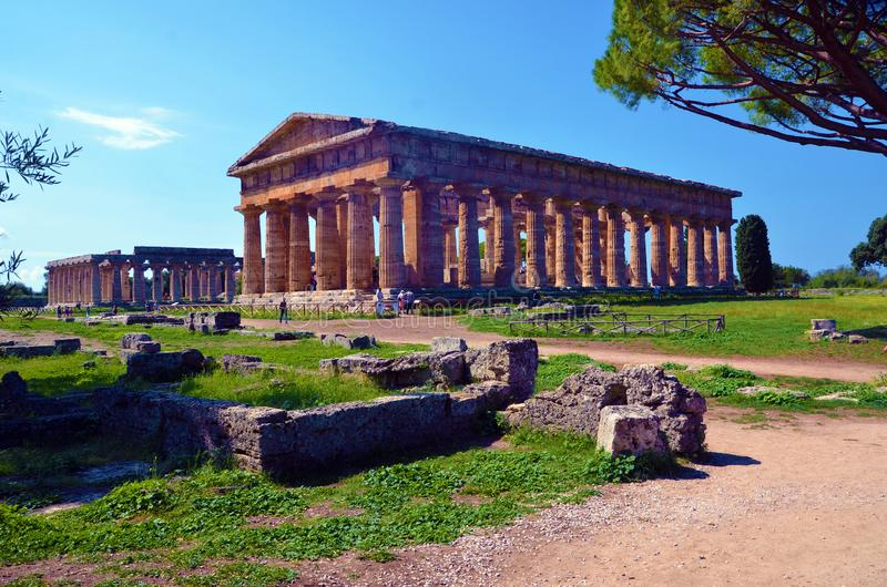 Paestum Италия Capaccio стоковые изображения rf